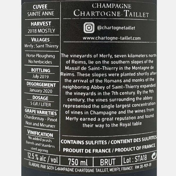 Champagne Extra Brut Concordance Bio – Marie-Courtin